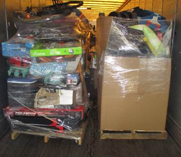 Pic of Truckload of mixed sporting goods
