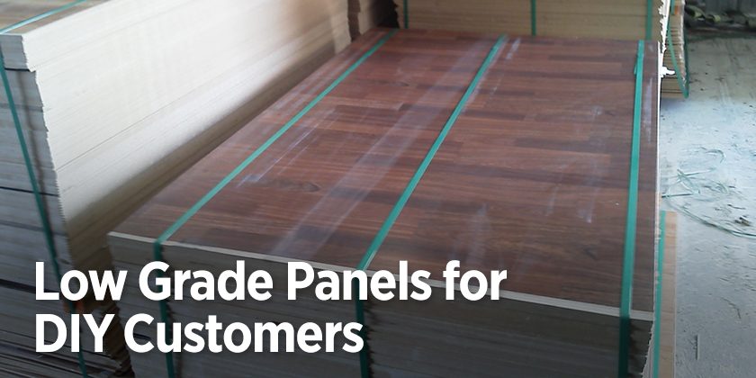Low-Grade Panels for DIY
